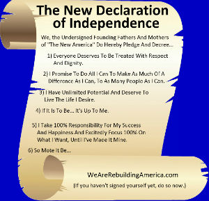 "Click Here - Sign ""The New Declaration of Independence"""
